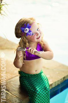 Mermaid session for little girls