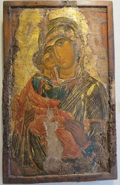 """Entreaty of the servant of God"": An inscription on an icon of the Virgin and Child Religious Images, Religious Icons, Religious Art, Madonna, Byzantine Icons, Byzantine Art, Roman Church, Russian Icons, Religious Paintings"