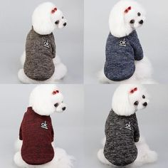 Winter Knitted Dog Coat Sweater