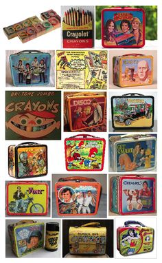 Vintage back to school items