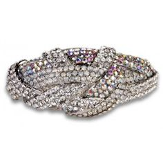 Jewelry Galore - Small Knot Bracelet in Silver - $41 #jewelry #fashion #women #bracelet #silver #diamond