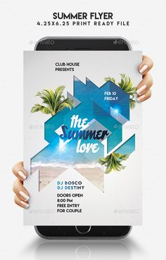 Summer #Flyer - #Events Flyers Download here: https://graphicriver.net/item/summer-flyer/19469614?ref=alena994