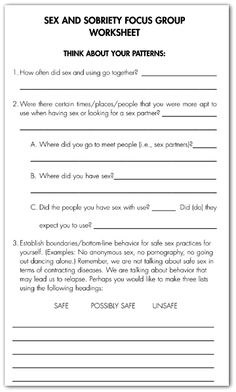 Relapse Prevention Plan Worksheet Worksheets for all | Download ...