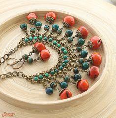 Funky Jewelry, Fall Jewelry, Hippie Jewelry, Jewelry Crafts, Jewelry Art, Gemstone Jewelry, Handmade Jewelry, Jewellery, Natural Stone Jewelry