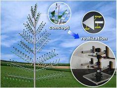 Electricity generating Piezoelectric Tree