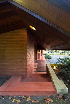 The Zimmerman House, a Usonian house designed by Frank Lloyd Wright. Manchester, New Hampshire.