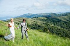 Chelsea and Jimmy's lovely, nature-inspired wedding was set atop Mt. Tamalpais. Read more at: http://www.7x7.com/wedding-resource/simply-lovely-wedding-mt-tamalpais