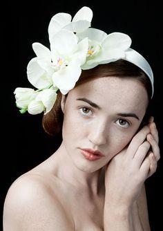 "White Orchid Fascinator ""The Delicate Britt-Marie"""
