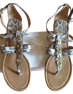 Coach Python Leather Sandals. Get the must-have sandals of this season! These Coach Python Leather Sandals are a top 10 member favorite on Tradesy. Save on yours before they're sold out!