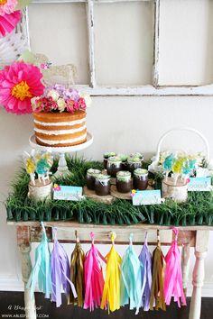 lauren s unicorn party dessert table ideas