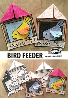 Bird Feeder Bird Feeder,Kunst grundschule children activities, more than 2000 coloring pages Related posts:There's always that one friend - Yoga Poses For Correcting Bad Posture Kids Crafts, Bear Crafts, Animal Crafts For Kids, Winter Crafts For Kids, Spring Crafts, Preschool Crafts, Art For Kids, Arts And Crafts, Winter Art