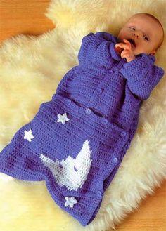 Crochet Knitting Handicraft: baby sleeping bag free up to Baby Knitting Patterns, Baby Patterns, Crochet Patterns, Blanket Patterns, Crochet Baby Cocoon, Crochet Baby Clothes, Baby Blanket Crochet, Knitted Baby, Pinterest Crochet