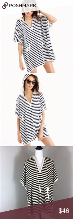 J.Crew Terry Poncho Dress J.Crew Terry Poncho Dress. Size extra small/small and the length is 30' long. Pre-owned condition with some wear and no major flaws.  ❌I do not Trade 🙅🏻 Or model💲 Posh Transactions ONLY J. Crew Dresses