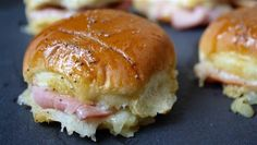 Ham and cheese sliders with mustard sauce