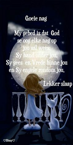 Goeie nag ..lekker slaap Good Night Flowers, Evening Greetings, Afrikaanse Quotes, Good Night Blessings, Goeie Nag, Christian Messages, Good Night Quotes, Special Quotes, Sleep Tight