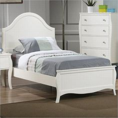 Lowest price online on all Coaster Dominique Youth Bed in White Finish - 400561XX