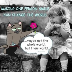 Making one person smile can change the world – maybe not the whole world, but their world. #smile #ChanageTheWorld #beautiful #positive #world #inspirational #quote #PravineeHurbungs