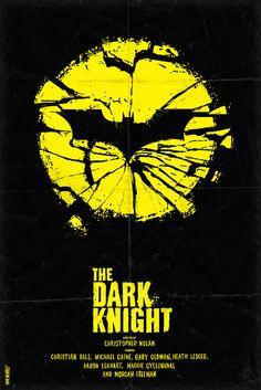 The Dark Knight Minimal Movie Poster by Daniel Norris