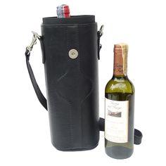 Piel Single Deluxe Leather Wine Carrier