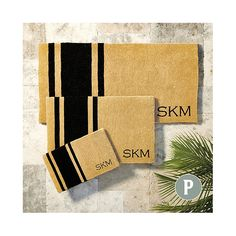 Suzanne Kasler Striped Personalized Coir Mat