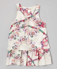 Loving this White Jewel Tunic - Toddler & Girls on #zulily! #zulilyfinds