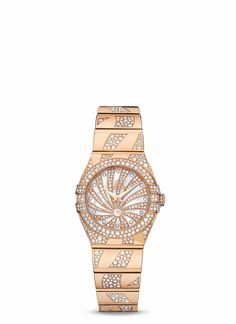 Beautiful Rose gold Omega watch! See it at the Omega store in the King of Prussia Mall®.