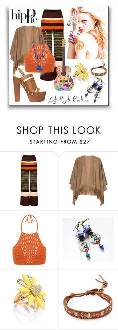 """#halloweencostume"" by caymansunshine ❤ liked on Polyvore featuring River Island, mel, Spiritual Hippie, Kate Spade, Chan Luu, Shourouk, Haute Hippie, easy, hippie and LastMinute"