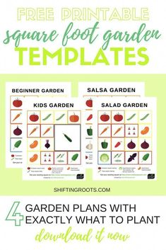Want to try square foot gardening? I've compiled 4 themed garden plans for beginners. Get the exact layout for your … Gardening For Beginners, Gardening Tips, Flower Gardening, Container Gardening, Home Vegetable Garden, Vegetables Garden, Growing Vegetables, Veggie Gardens, Veggies