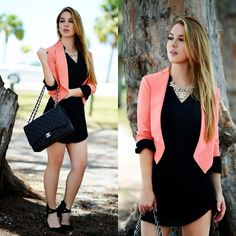 Chanel Bag, Hot Miami Styles Blazer And Dress, Charlotte Russe Heels