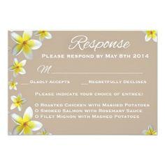Plumeria RSVP Wedding Card