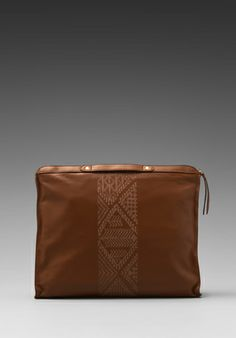 Twelfth Street By Cynthia Vincent Leather Banker's Clutch in Natural
