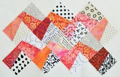 Quilternity's Place: Fractured QAL - week 6 I made this in a different layout and colors. Colorful Quilts, Small Quilts, Scrappy Quilts, Mini Quilts, Quilt Block Patterns, Quilt Blocks, Quilting Projects, Quilting Designs, Quilting Tips