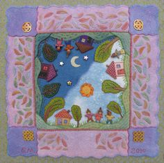Back cover of Pocket Full of Posies by Salley Mavor of Wee Folk Studio Wool Embroidery, Hand Embroidery Designs, Felt Applique, Applique Quilts, Sewing Crafts, Sewing Projects, Fleece Projects, Felting Tutorials, Felt Dolls