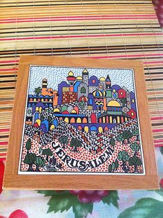 JERUSALEM Wooden Tray Tamimi Ceramics