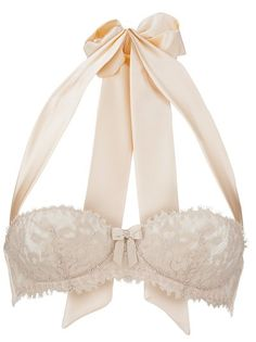 pretty bow lace lingerie