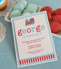 DIY PRINTABLE Birthday Party - Invitation Card - Vintage Choo-Choo Train - PS802CA1a. $12.00, via Etsy.