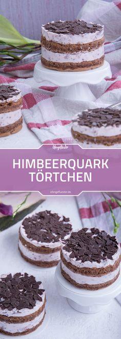 Rezept für Himbeer-Quark-Törtchen mit Schokostreuseln #rezept #törtchen #dessert