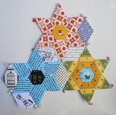 Hexagons, Jewels, and diamonds PaperPieces.com