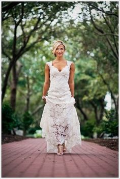 "Beautiful lace wedding dress. Monique Lhuillier Scarlet $2500. Part of the Allie + Noah (from ""The Notebook"") wedding inspiration board."