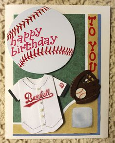 25 Best Baseball Themed Birthday Card Images In 2014 Cards