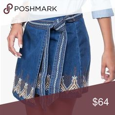 WOMEN/'S DENIM XL 2 PC Top//Shirt Skirt SET Ladies nwt embroidered 100/% Cotton
