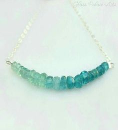 Blue/green Apatite necklace...