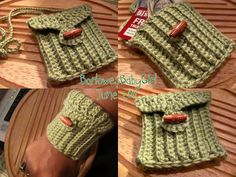 My / Little / Crocheted / Wrist / Cuff / Wallet / Cell Phone / Case  / With / Neck Cord / and / Belt Loop on Etsy