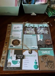 The Crafty Cupcake: Pocket Letters Everywhere! Project Life Scrapbook, Project Life Layouts, Project Life Cards, Project Ideas, Pocket Pal, Pocket Cards, Diy Letters, Pocket Letters, Snail Mail Pen Pals