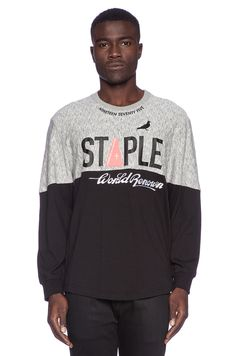 Staple Force L/S Tee in Black