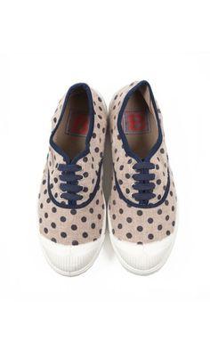 Bensimon Sneakers in Beige Dots