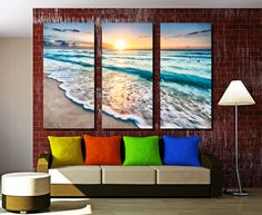 Abstract Teal World Map Canvas Print Wall Art - 3 Panel Split, Triptych for home and office wall decor & interior design, room decoration 3 Panel Wall Art, Triptych Wall Art, Office Wall Decor, Office Walls, Decor Interior Design, Interior Decorating, Decorating Ideas, Wall Art Prints, Canvas Prints