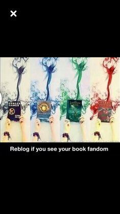 All my fandoms but divergent. But reading divergent soon.