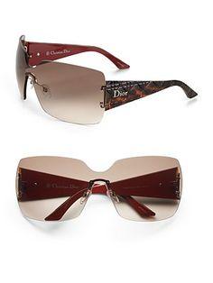 b6dbc7df54e88 Dior - Rimless Shield Sunglasses