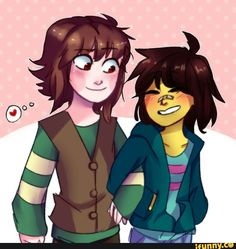 I thought Chara was Hiccup for a sec and then I realized that could make a decent crossover with the two pacifists, Frisk and Hiccup